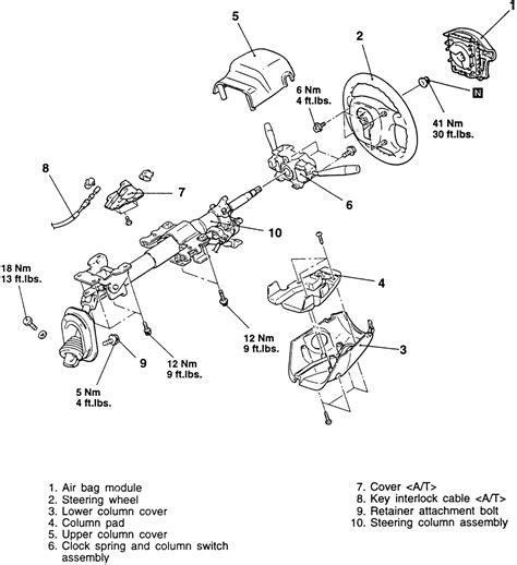 removing clock spring 1998 mitsubishi diamante repair guides steering turn signal combination