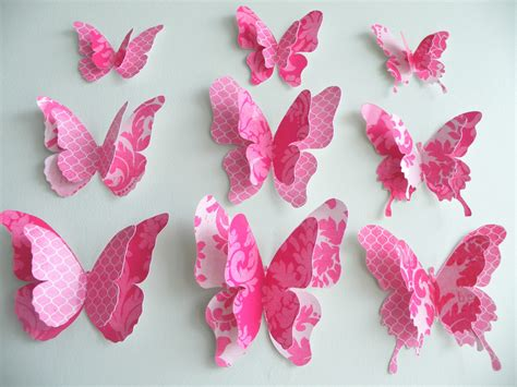 How To Make A 3d Paper Butterfly - paper butterfly http lomets