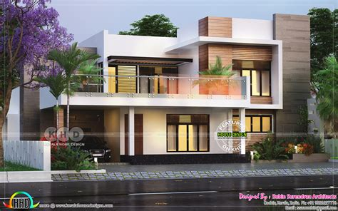3 bhk modern contemporary home in 1890 sq ft kerala home design and floor plans 3 bedroom 2650 square modern flat roof house kerala home design and floor plans