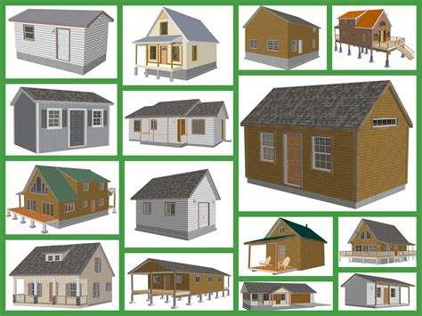 build a house online small cabin and bunk house plans and blueprints