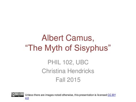 Myth Of Sisyphus And Other Essays by Albert Camus The Myth Of Sisyphus And Other Essays