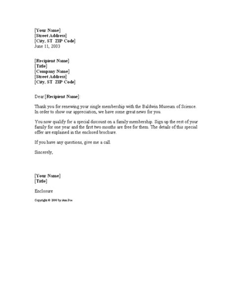 Thank you for renewing membership   Letter Templates Download