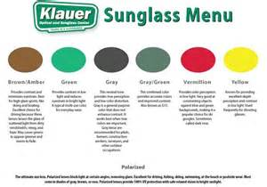 sunglass lens colors sunglass season klauer optical sunglass center
