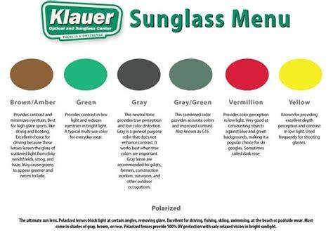 sunglass lens colors sunglass season klauer optical sunglass center