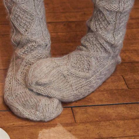 pattern for aran socks cosy aran knitted socks by bibico notonthehighstreet com
