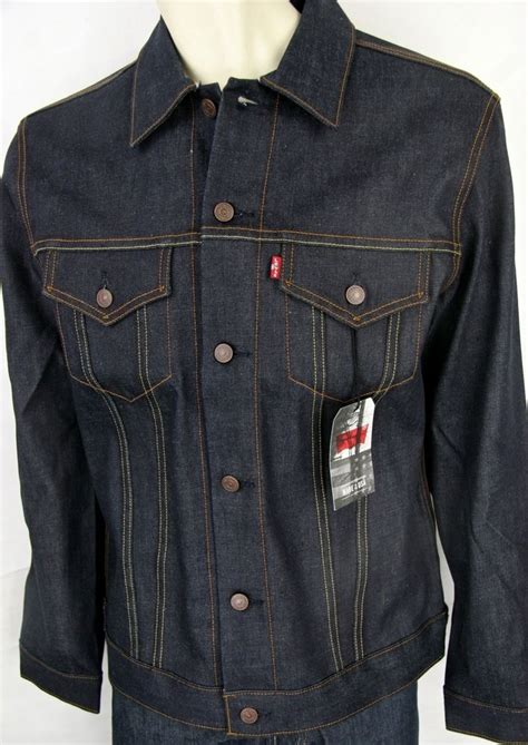 Selvedge Trucker Jacket levis strauss jacket levi s 705890040 selvedge denim rigid