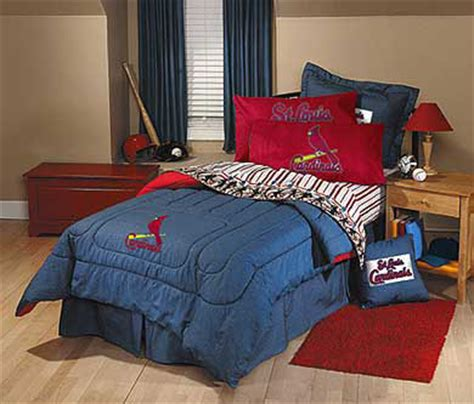 st louis cardinals bedroom decor st louis cardinals team denim twin size comforter sheet set