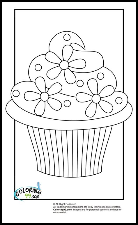 free coloring pages of cupcake pictures