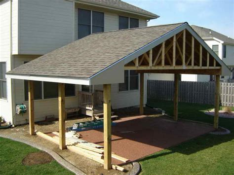 Build A Patio Awning; How To Build Covered Patio Roof