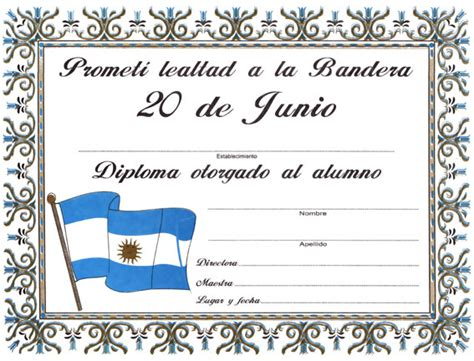 diploma jura de la bandera diploma de promesa de lealtad a la bandera regalos