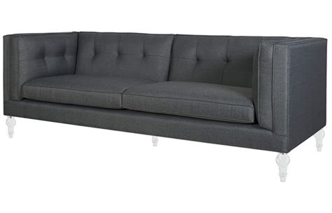 Chesterfield Sofa Grey Fabric Wooden Chesterfield Sofa Grey Comfychest168 Comfyland