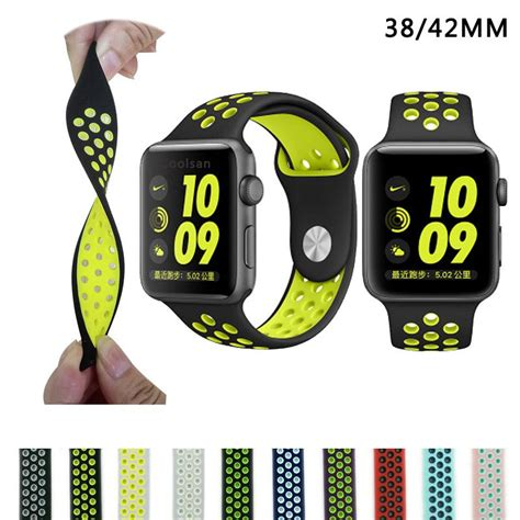 Istomp Nike Sports Band For Apple 42mm Black brand silicon sports band for apple nike 38