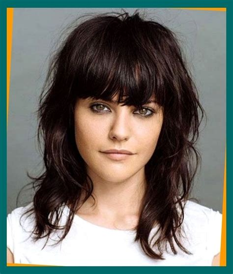 hairstyles thick bangs 15 modern medium length haircuts with bangs layers for