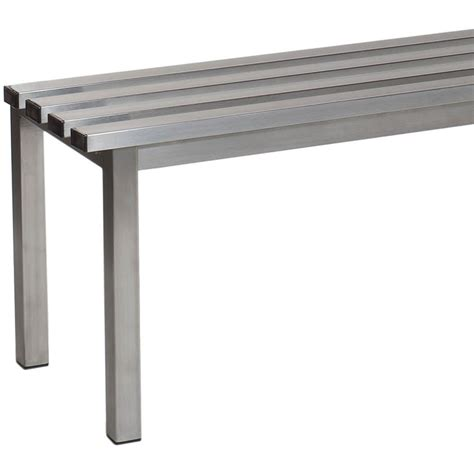 stainless steel benches aqua basic freestanding changing room benches ese direct