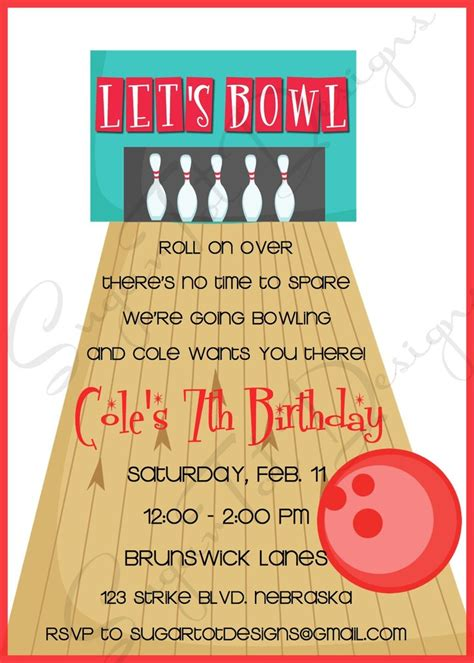 free bowling birthday invitation card template 17 best images about bowling bash on birthday