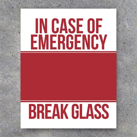 In Of Emergency Glass Template money cases and search on