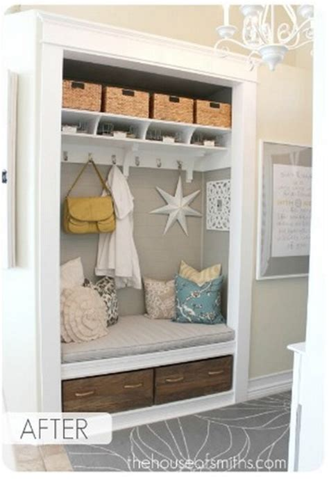 Turn Closet Into Mudroom by How To Turn Your Front Closet Into A Mudroom 187 Curbly