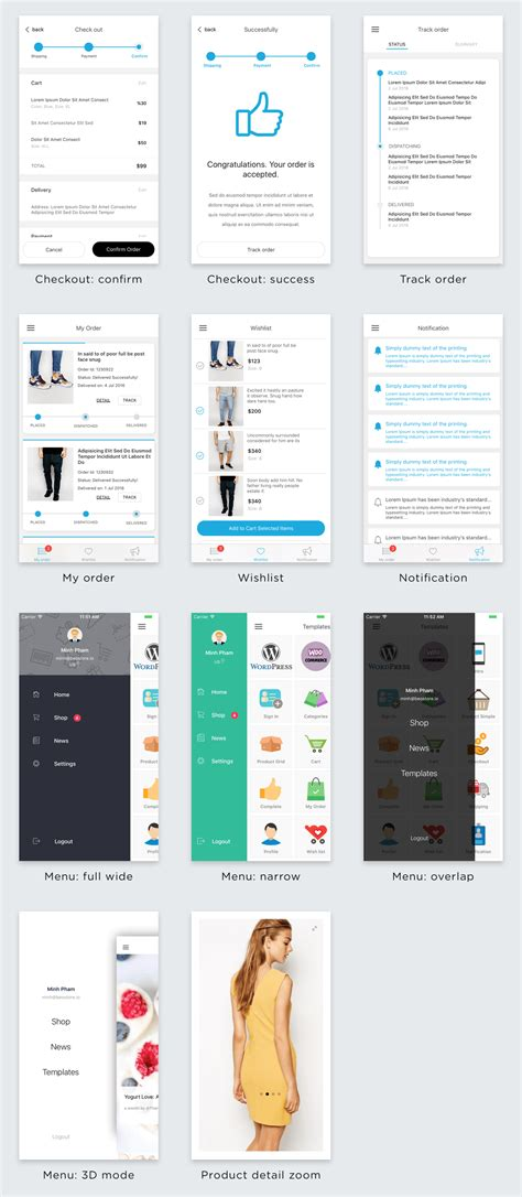 Beoui Complete Mobile Ui Template For React Native By Inspireui Codecanyon React Ui Templates