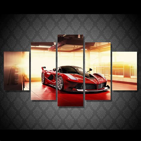wall decor sports set of 4 canvas art sports room decor 2017 jie do art large frame picture red luxury sports car