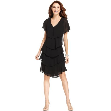 Dress Of The Day Tiered Dress by Patra Tiered Dress In Black Lyst