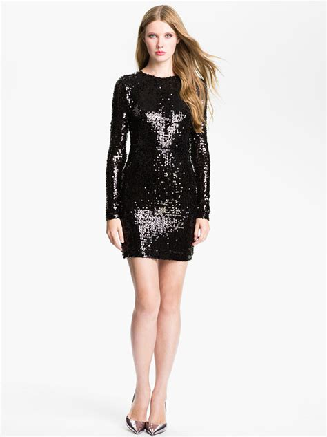 black long sleeve sequin dress sequin mini dress dressed up girl