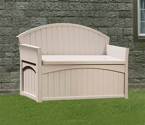suncast 50 gallon patio bench suncast patio garden outdoor bench with 50 gallon storage