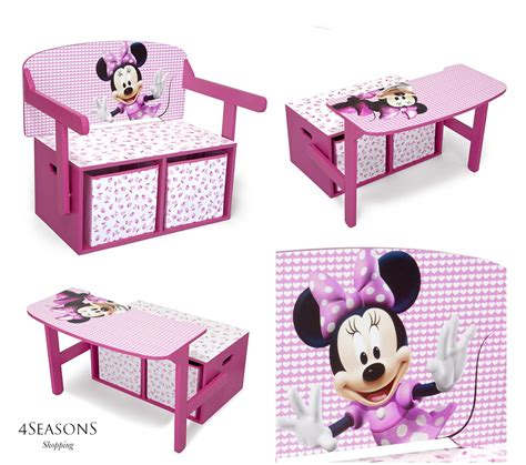 minnie mouse storage box desk wooden chest