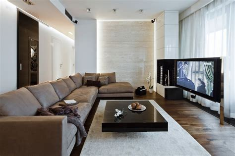 lounge room sleek and sumptuous poland apartment