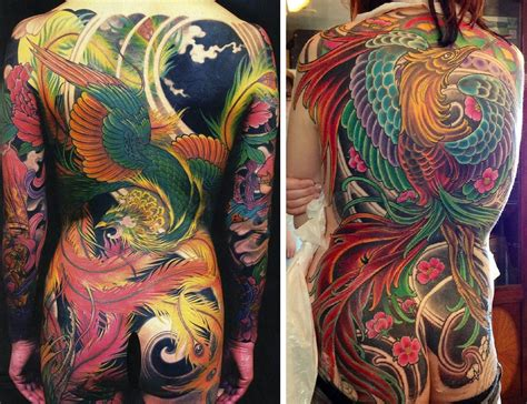 yakuza phoenix tattoo 16 fascinating yakuza tattoos and their hidden symbolic
