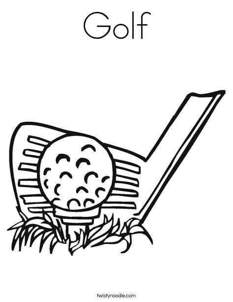 golf coloring pages golf coloring page twisty noodle