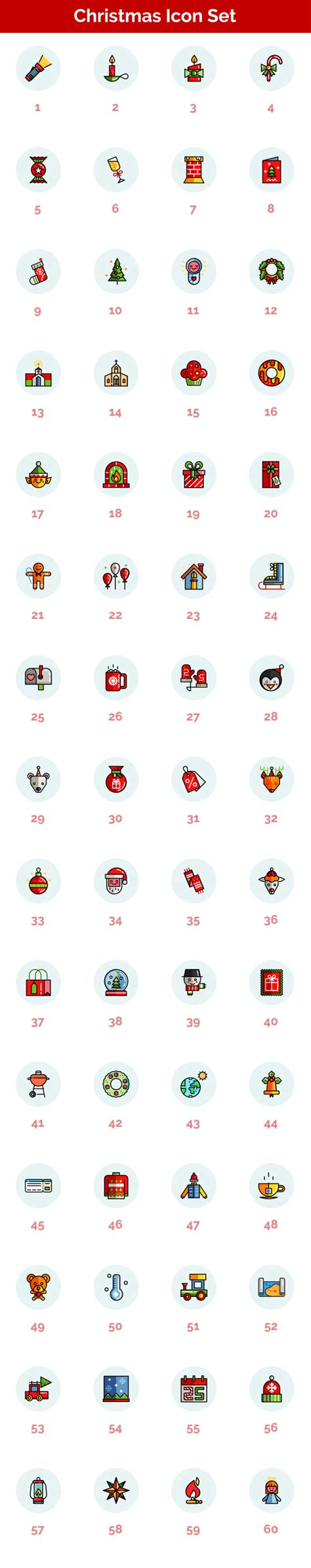 Christmas Holiday Icons Holidays After Effects Templates F5 Design Com Bourne Identity Style Free After Effects Template