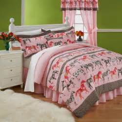 Childrens Single Duvet Sets Mustang Sally Horses Pink Bedding Twin Comforter Set