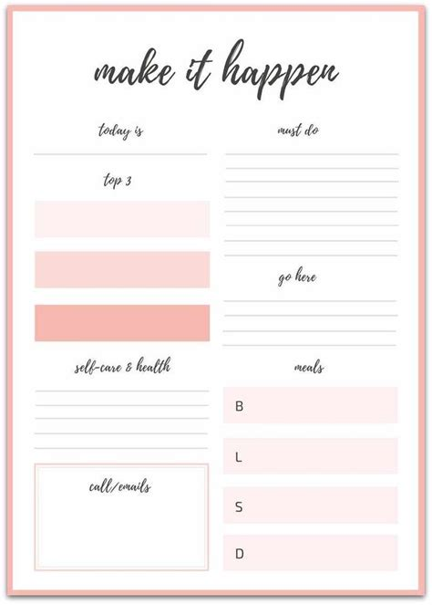 printable goal sheets stay track