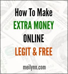 How I Make Money Online For Free - how to make extra money online from home legit and free