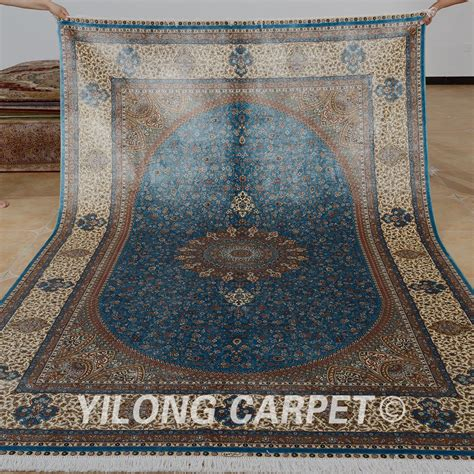 Silk Rugs Handmade - blue silk rug handmade avenue