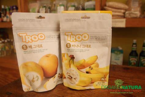 Troo Freeze Dried Korean Pear Snack Cemilan Buah Kering Pir Korea organic natura troo freeze dried banana pear cemilan dari buah alami
