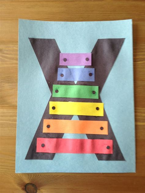 newspaper theme for preschool x is for xylophone craft preschool craft letter of the