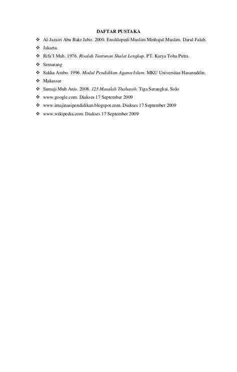 Ensiklopedi Muslim Minhajul Muslim Abu Bakr Al Jazairi hubungan tahara dengan shalat 2