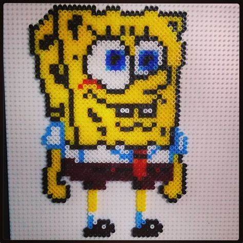 perler spongebob spongebob hama by montse akane hama