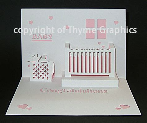baby pop up card template free pop up cards patterns studio design gallery