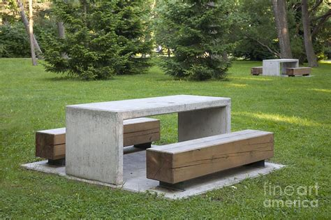 diy concrete park bench simple park benches and tables photograph by jaak nilson