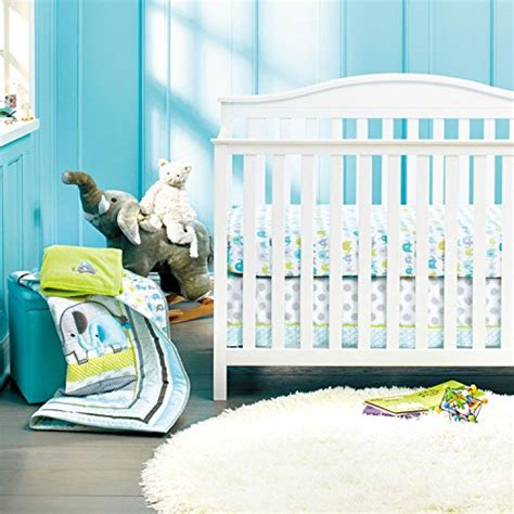 New Baby Safari Elephant 8pcs Crib Bedding Set 4 Bumper 1 Elephant Nursery Bedding Sets
