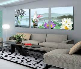 room canvas 3 panels pictures water painting on canvas room decor