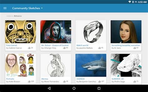 sketchbook lnk apk adobe photoshop sketch android apps on play