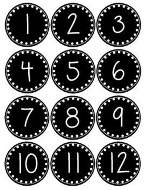 printable number label by popular demand a smaller version of my polka dot