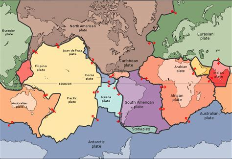 tectonic plate map continental drift and plate tectonics 171 kaiserscience