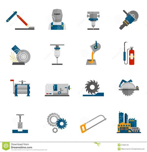working tools flat icon set stock vector image 40282698 metal working icon flat stock vector image 51832149