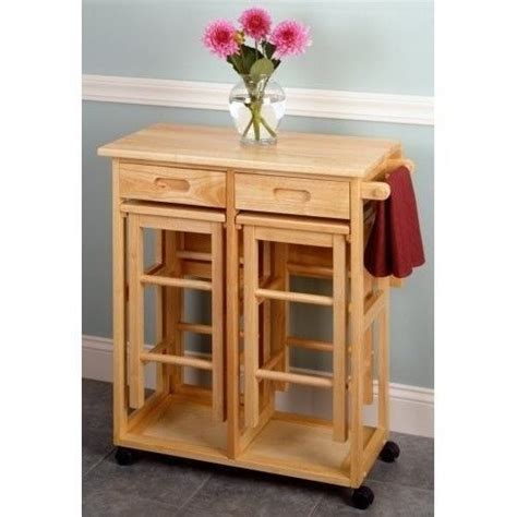 portable kitchen island with bar stools breakfast bar nook space saver portable kitchen island