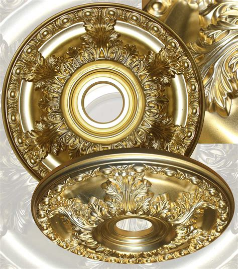 Gold Ceiling Medallion by Md 5045 Metallic Gold Ceiling Medallion