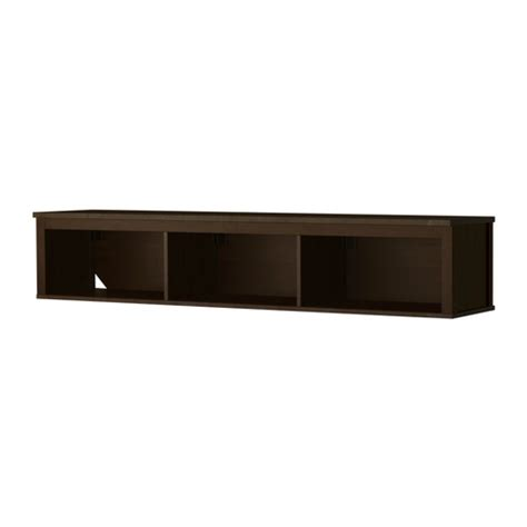 hemnes wall bridging shelf black brown ikea